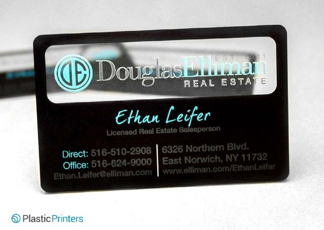 50 clear business cards you have to see designed by plastic printe 17 douglas elliman real estate professional business reheart Choice Image