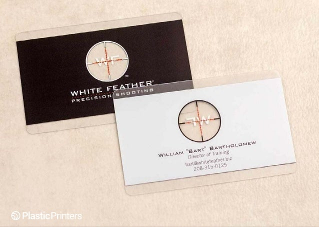 50 clear business cards you have to see designed by plastic printe 18008087472 plasticprinters 3 white feather precision shooting black business card colourmoves Gallery