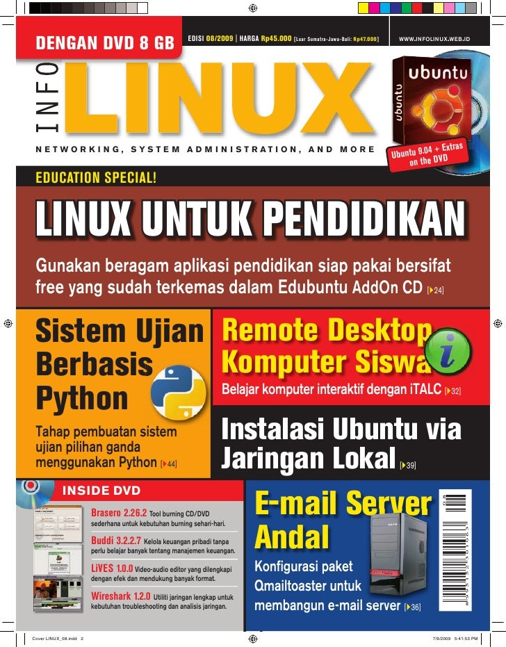 EDISI 08/2009 | HARGA Rp45.000 [Luar Sumatra-Jawa-Bali: Rp47.000]    WWW.INFOLINUX.WEB.ID DENGAN DVD 8 GB                 ...