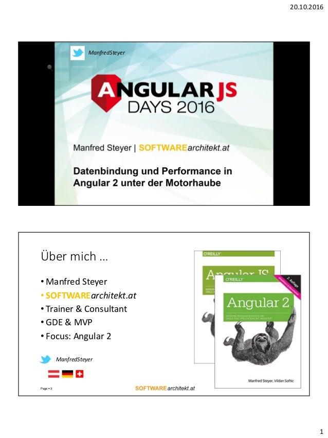 20.10.2016 1 ManfredSteyer Über mich … • Manfred Steyer • SOFTWAREarchitekt.at • Trainer & Consultant • GDE & MVP • Focus:...
