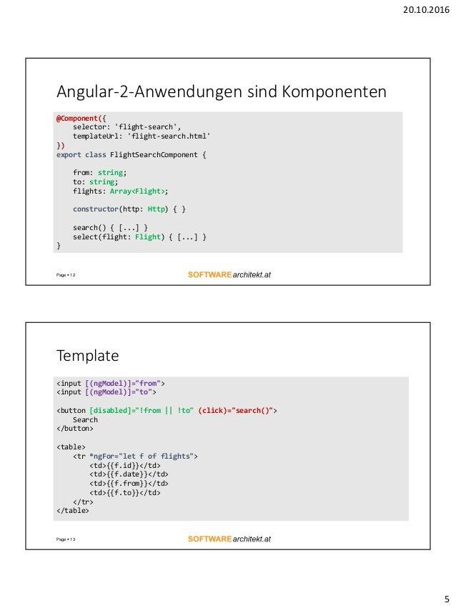 Datenbindung und Performance in Angular 2