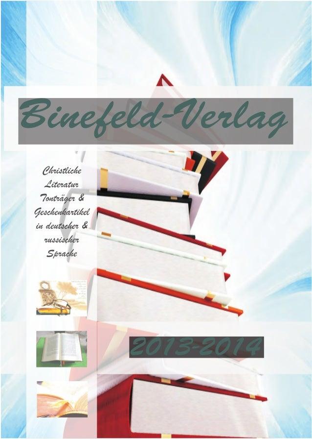 Hauptkatalog Binefeld-Verlag 2013 & 2014
