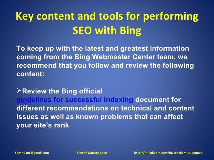 Bing SEO slideshare - 웹