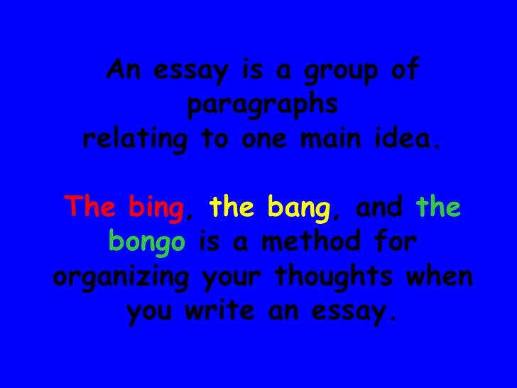 Bing Bang Boom Writing An Essay – 275485