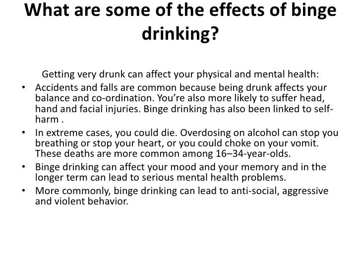 cause and effects of binge drinking among youths essay Prevalence of use, abuse, & dependence substance use among 12th grade aged youths study defines brain and behavioral effects of teen binge drinking.