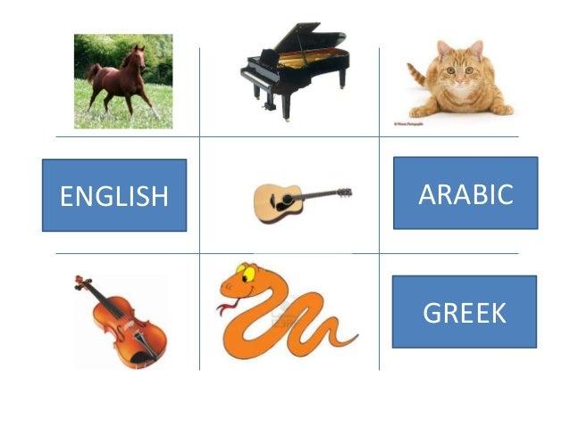 ENGLISH   ARABIC          GREEK