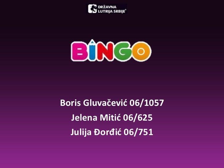 Boris Gluvačević 06/1057 Jelena Mitić 06/625 Julija  Đorđ ić 06/751