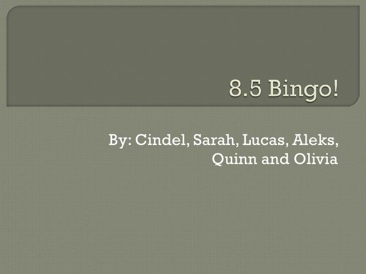 By: Cindel, Sarah, Lucas, Aleks, Quinn and Olivia