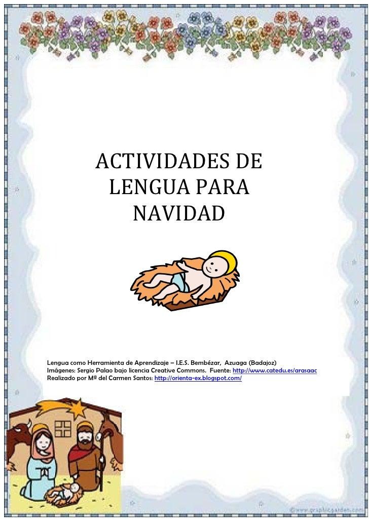 ACTIVIDADES DE                  LENGUA PARA                    NAVIDAD     Lengua como Herramienta de Aprendizaje – I.E.S....
