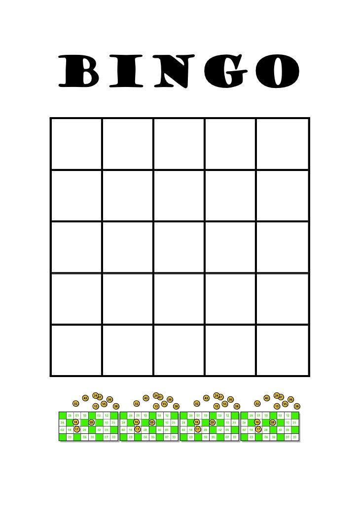 Bingo plantilla