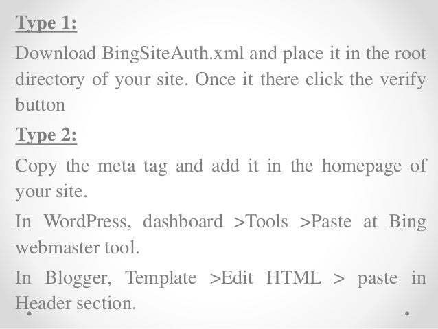 use of bing webmaster tools in seo