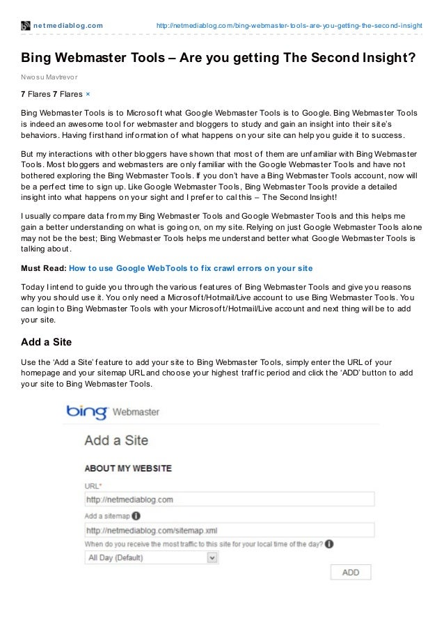 net mediablog.com http://netmediablog.com/bing-webmaster-tools-are-you-getting-the-second-insight Bing Webmaster Tools – A...