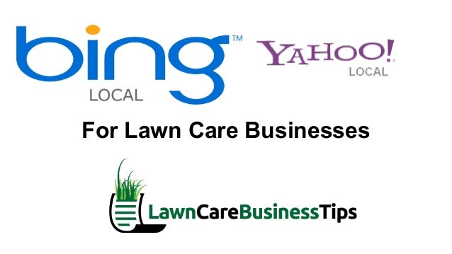 lawn care business free advertising with bing and yahoo local listings