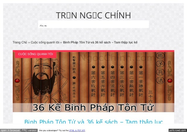 Binh Phap Ton Tu - 36 Ke Sach Slide 1