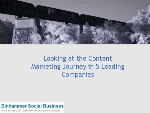 Looking at the Content Marketing Journey in 5 Leading Companies