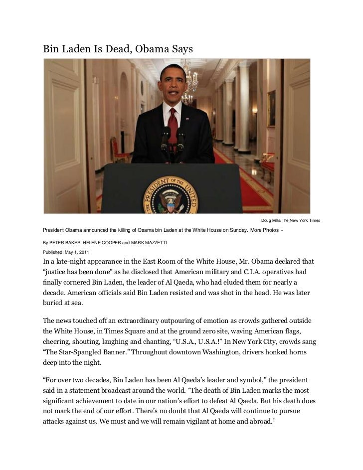 """HYPERLINK """"http://topics.nytimes.com/top/reference/timestopics/people/b/osama_bin_laden/index.html"""" o """"Complete Coverage ..."""