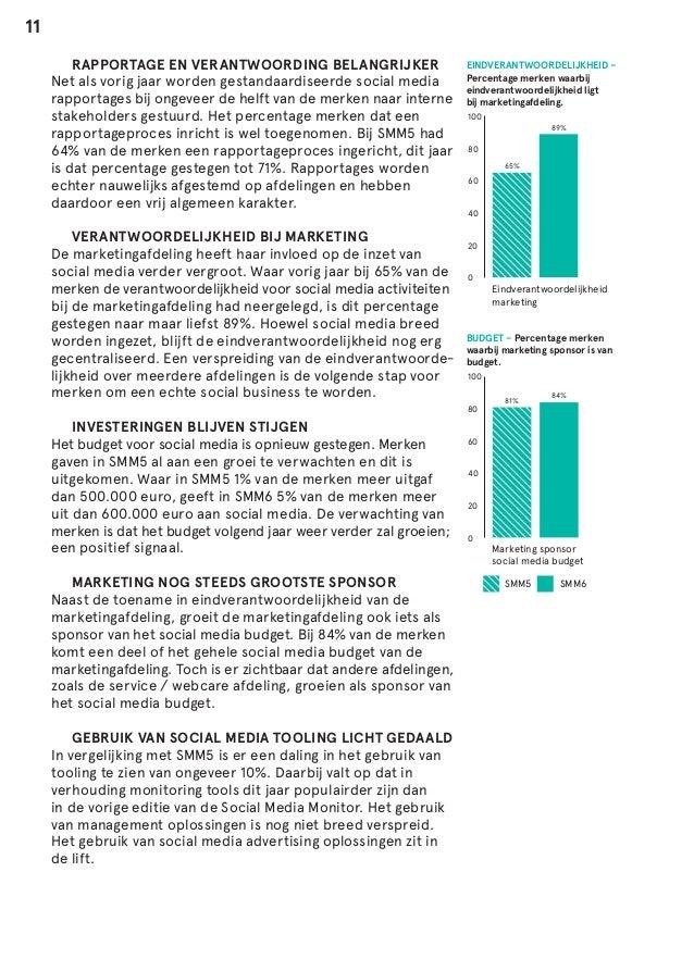 11  RAPPORTAGE EN VERANTWOORDING BELANGRIJKER Net als vorig jaar worden gestandaardiseerde social media rapportages bij o...