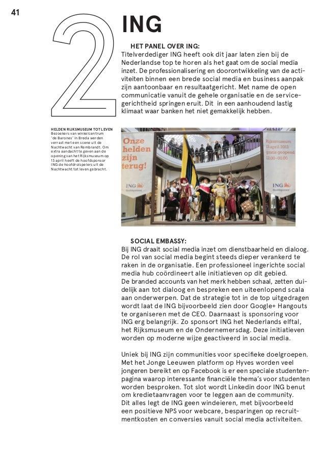 41  ING  HET PANEL OVER ING: Titelverdediger ING heeft ook dit jaar laten zien bij de Nederlandse top te horen als het ga...