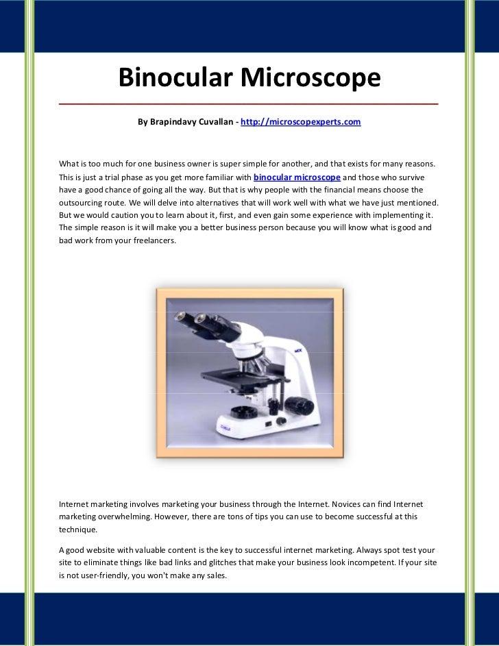 Binocular Microscope_____________________________________________________________________________________                 ...