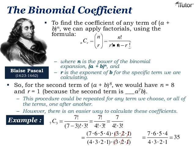 newton binomial theorem [edit] newton's generalized binomial theorem isaac newton generalized the formula to other exponents by considering an infinite series: where r can be any complex number (in particular r can be any real number, not necessarily positive and not necessarily an integer), and the coefficients are given by.