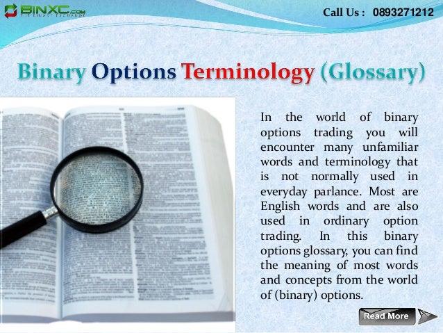 Binary options glossary