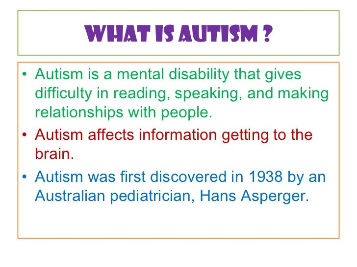 The 'Discovery' of Autism