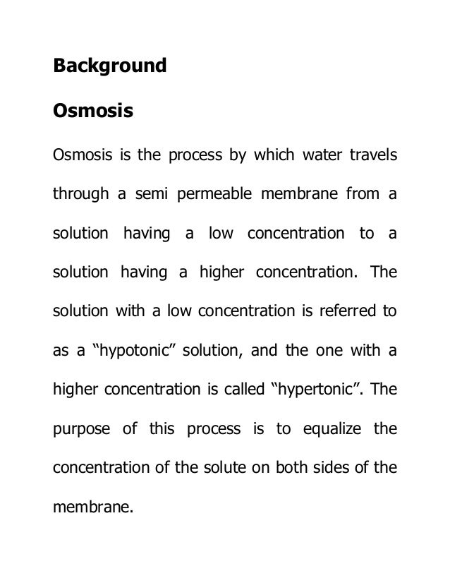Biology Project! Osmosis in Egg