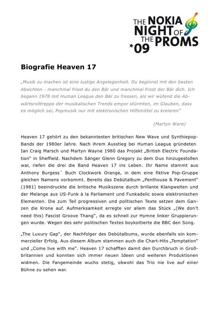 """Biografie Heaven 17""""Musik zu machen ist eine lustige Angelegenheit. Du beginnst mit den bestenAbsichten - manchmal frisst ..."""