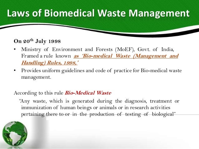 thesis on biomedical waste management in india