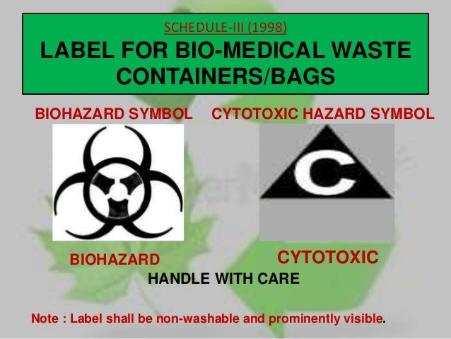 suggestive measures for bio medical waste disposal Biomedical waste 1)introduction: biomedical waste, also known as infectious waste or medical waste, is defined as solid waste generated during the diagnosis, testing, treatment, research or production of biological products for humans or animals.