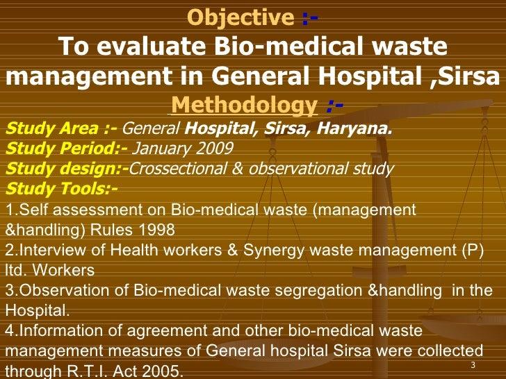 Bio Medical Waste Management Civil Hospital Ppt