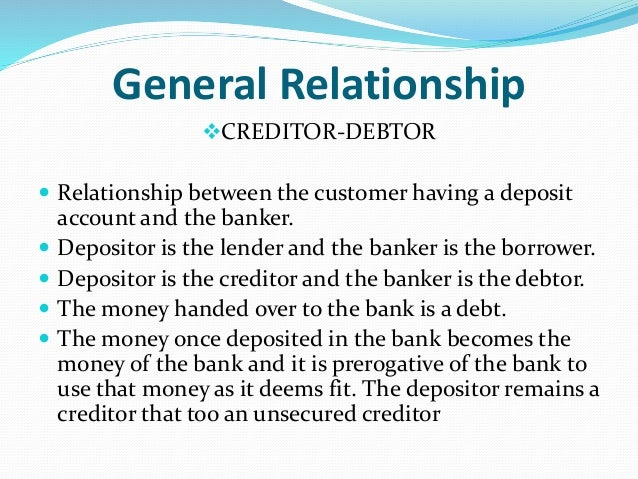 what is a relationship between banker customer