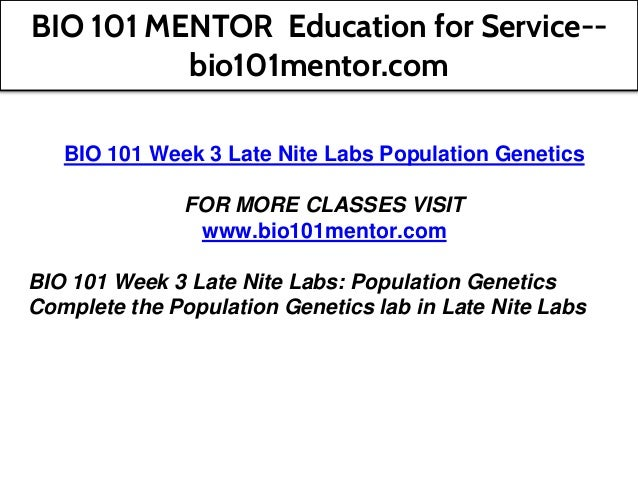 BIO 101 MENTOR Education for Service--bio101mentor com