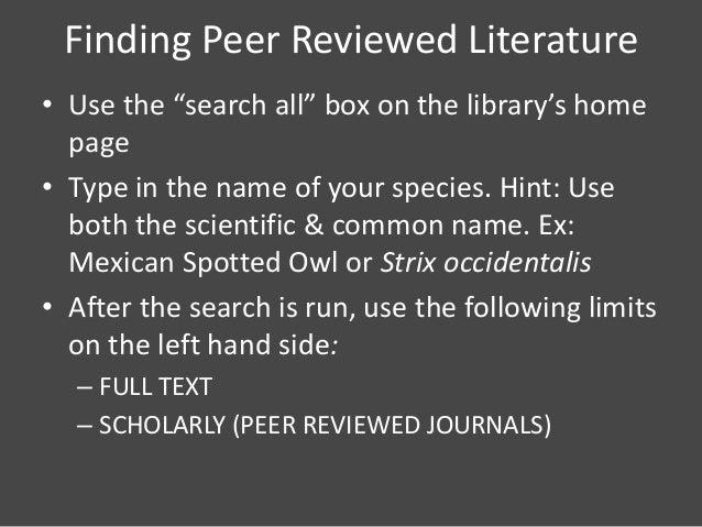 Scholarly Literature Types: Scholarly Literature Types