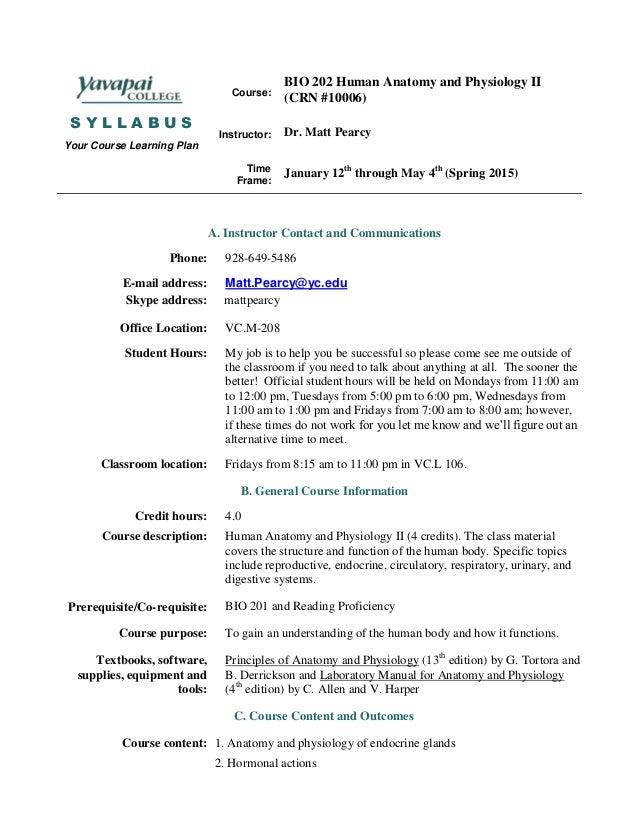 Bio 202 hybrid syllabus spring 2015