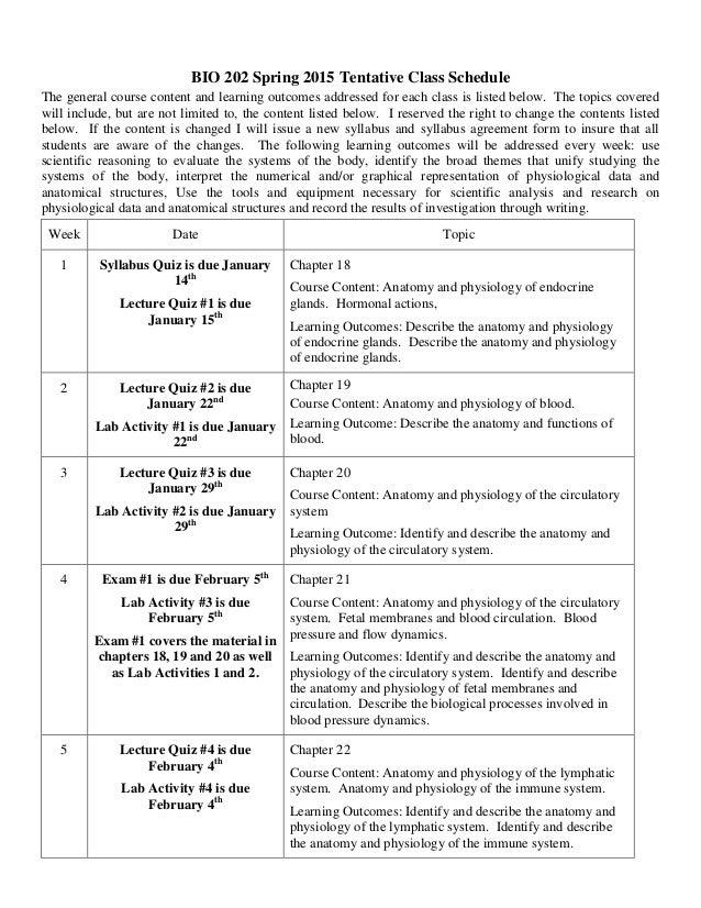 Bio 202 online syllabus spring 15