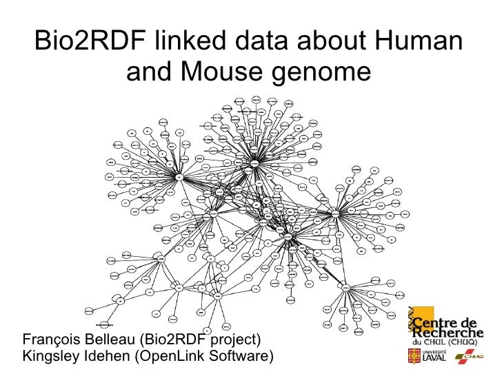 Bio2RDF linked data about Human        and Mouse genome     François Belleau (Bio2RDF project) Kingsley Idehen (OpenLink S...