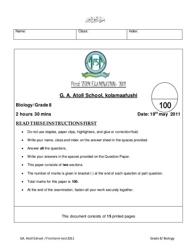 biology first exam Solution: aura took three biology exam and has an average score of 88 her  second exam was ten points better than her first, and her third exam was four.