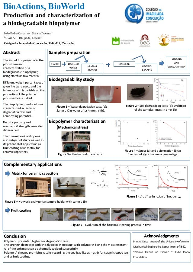 Biodegradability study Samples preparationAbstract The aim of this project was the production and characterization of a bi...