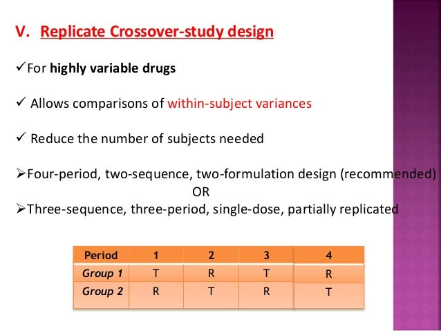 Crossover study carryover effect