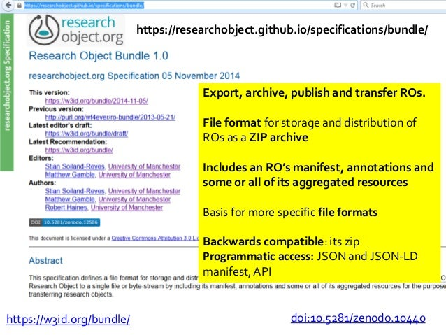 Checklists Versioning Provenance Dependencies Annotation Profiles . Depth: how deeply described Coverage: how much is cove...