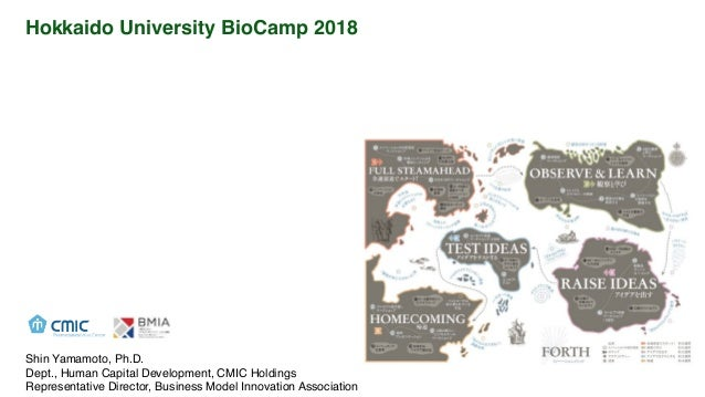Hokkaido University BioCamp 2018 Biotech We nnovation For Happy & Sustainable Society 2030 Shin Yamamoto, Ph.D. Dept., Hum...