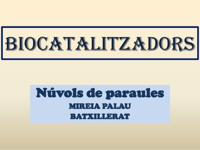 BIOCATALITZADORS  Núvols de paraules      MIREIA PALAU      BATXILLERAT