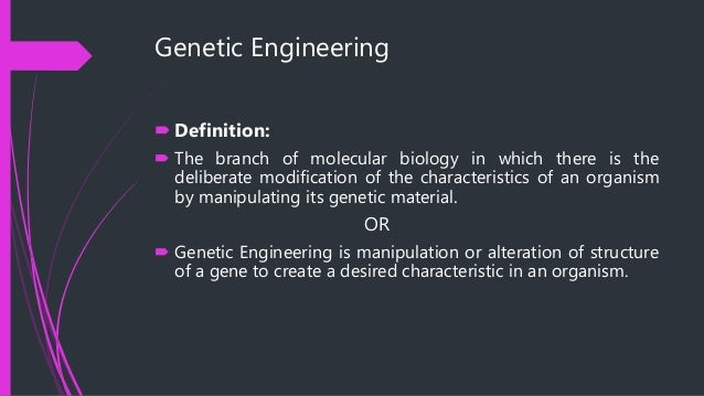 genetic engineering poses a number of As with any scientific procedure, genetic engineering poses a number of significant risks the most common concerns are potentially adverse reactions to the consumption of genetically modified.