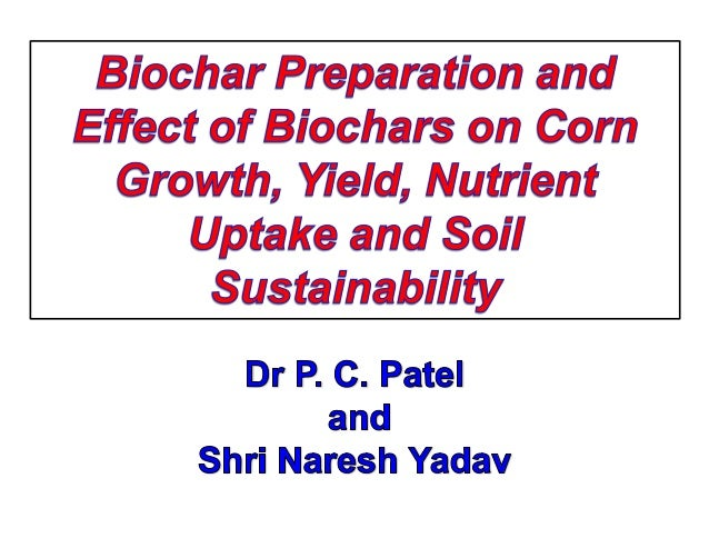 Sustainable biochar is produced from waste biomass using modern thermo-chemcial technologies. Addition of sustainable bioc...