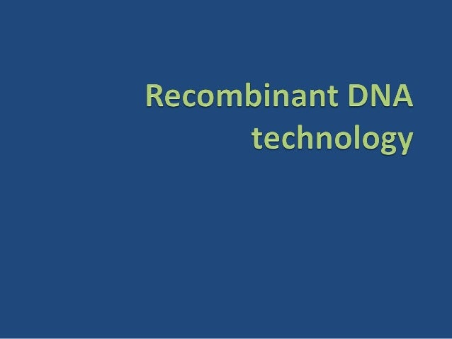 overview Recombinant DNA technology Restriction endonucleases Vectors DNA cloning Polymerase chain reaction Blotting...