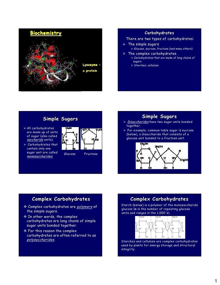 Biochemistry                                                 Carbohydrates                                                ...