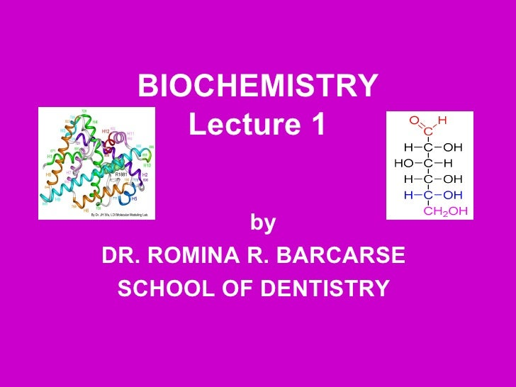 Chapter 1 introduction to biochemistry (slideshare).