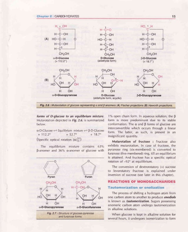 16 BIOCHEMISTFIY H n-C-ot H-C:O ( I H- -OH HO-( HO-( R Enediol (common) Fig.2.8 : Formationof a commonenediolfrom glucose,...