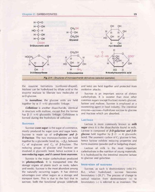 BIOCHEMISTF|Y HOH Glucose Fructose Sucrose (a-D-glucosyl(1 --+2)p-D-fructose) Galactose Lactose (p-D-galactosyl(1 -+ a)p-D...